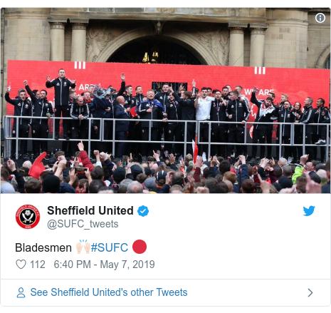 Twitter post by @SUFC_tweets: Bladesmen 🙌🏻#SUFC 🔴