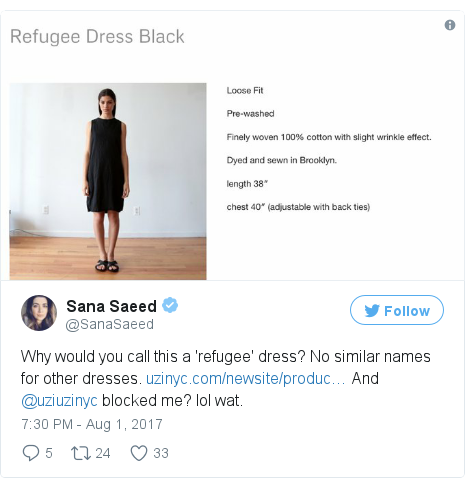 Twitter post by @SanaSaeed