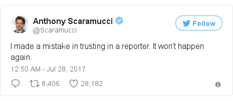 Twitter post by @Scaramucci