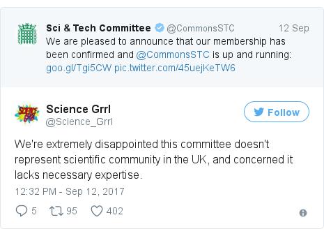Twitter post by @Science_Grrl
