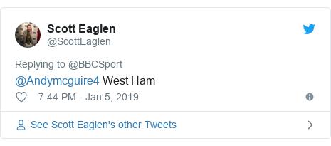 Twitter post by @ScottEaglen: @Andymcguire4 West Ham
