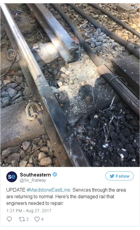 Twitter post by @Se_Railway