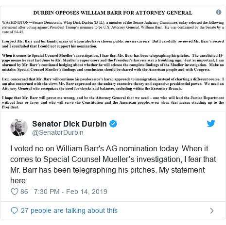 Senate confirms William Barr as US attorney general