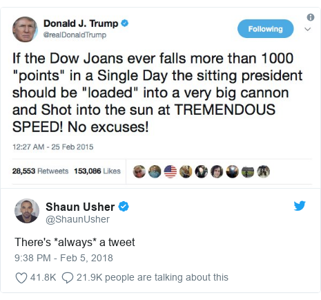 Twitter post by @ShaunUsher: There's *always* a tweet