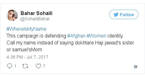 Twitter post by @SohailiBahar