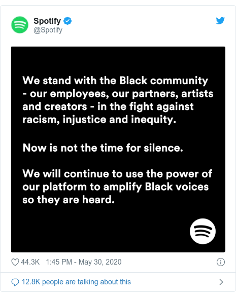 Twitter post by @Spotify: