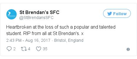 Twitter post by @StBrendansSFC