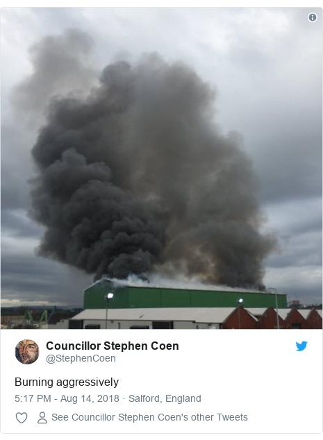 Twitter post by @StephenCoen: Burning aggressively