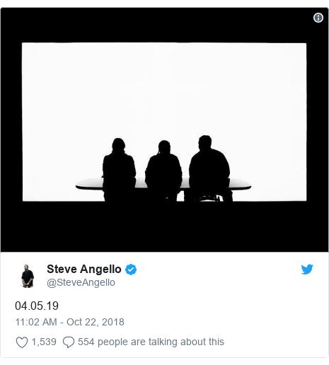Twitter post by @SteveAngello: 04.05.19