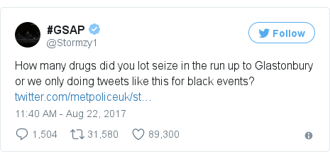 Twitter post by @Stormzy1