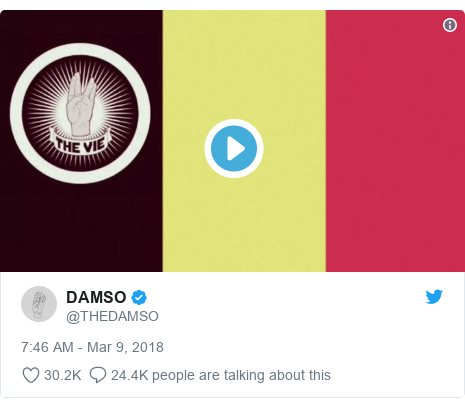 Twitter post by @THEDAMSO: