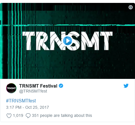 Twitter post by @TRNSMTfest: #TRNSMTfest