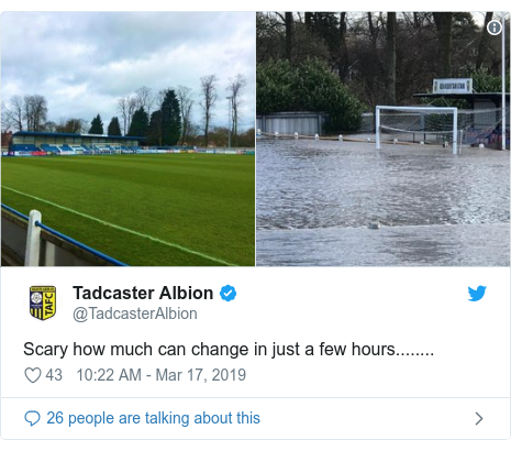Twitter post by @TadcasterAlbion: Scary how much can change in just a few hours........
