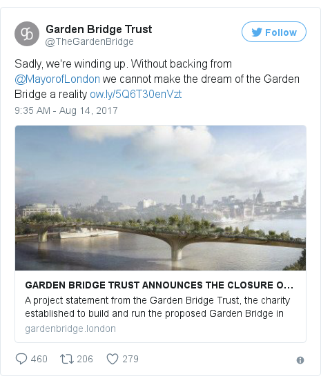 Twitter post by @TheGardenBridge
