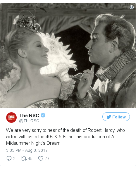 Twitter post by @TheRSC