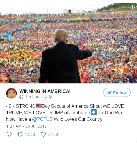 Twitter post by @TheTrumpLady