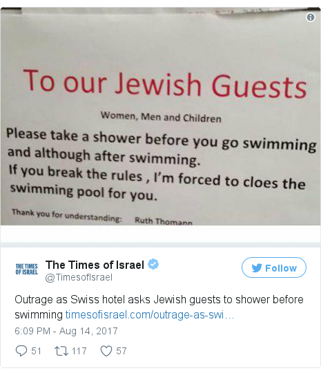 Twitter post by @TimesofIsrael