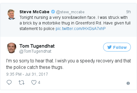 Twitter post by @TomTugendhat