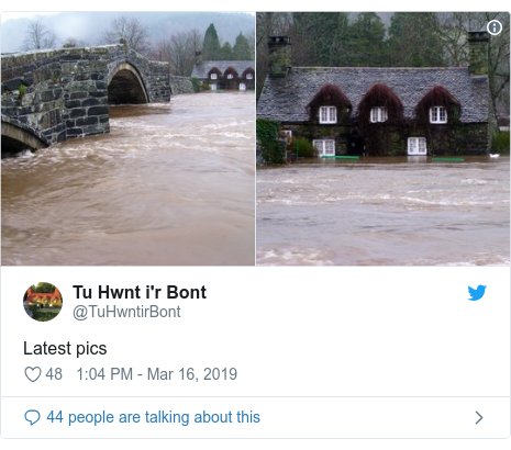 Twitter post by @TuHwntirBont: Latest pics