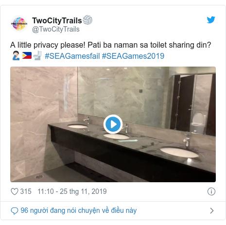 Twitter bởi @TwoCityTrails: A little privacy please! Pati ba naman sa toilet sharing din? 🤦🏻♂️🇵🇭🚽 #SEAGamesfail #SEAGames2019