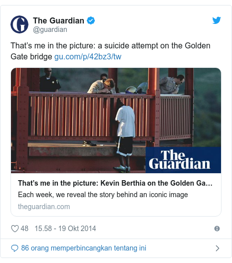 Twitter pesan oleh @Uncle_Ashi: That's me in the picture  a suicide attempt on the Golden Gate bridge