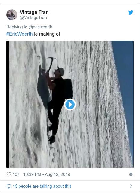 Twitter post by @VintageTran: #EricWoerth le making of