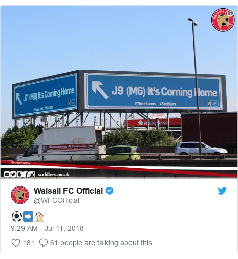 Twitter post by @WFCOfficial: ⚽️➡️🏠