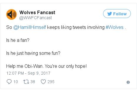 Twitter post by @WWFCFancast