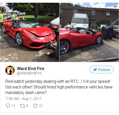 Twitter post by @WardEndFire