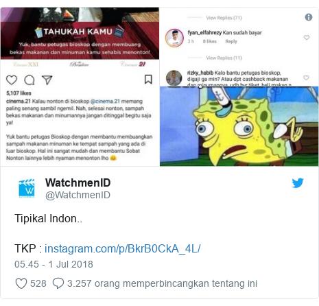 Twitter pesan oleh @WatchmenID: Tipikal Indon..TKP