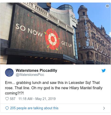 Hilary Mantel Billboard Hints At New Novel Bbc News
