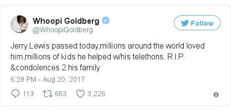 Twitter post by @WhoopiGoldberg