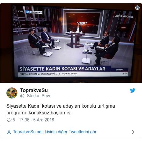 @_Sterka_Seve_ tarafından yapılan Twitter paylaşımı: Siyasette Kadın kotası ve adayları konulu tartışma programı  konuksuz başlamış.