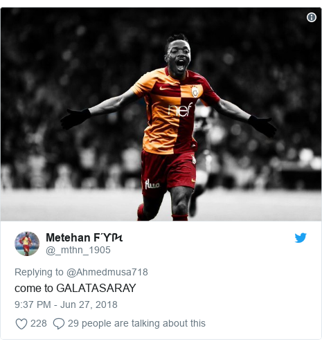 Twitter post by @_mthn_1905: come to GALATASARAY
