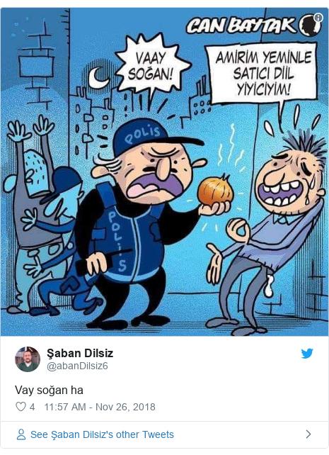 Twitter post by @abanDilsiz6: Vay soğan ha
