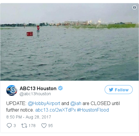 Twitter post by @abc13houston