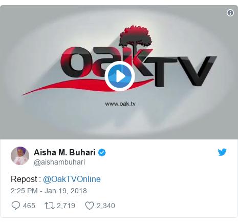 Twitter post by @aishambuhari: Repost   @OakTVOnline
