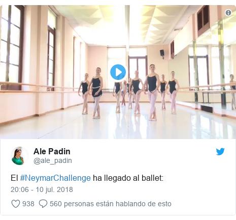 Publicación de Twitter por @ale_padin: El #NeymarChallenge ha llegado al ballet