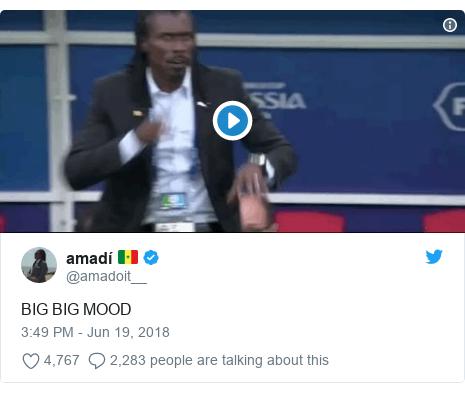Twitter post by @amadoit__: BIG BIG MOOD