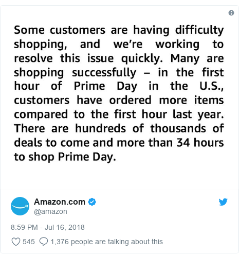 Twitter post by @amazon: