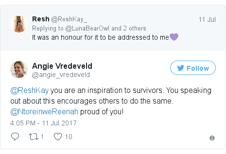 Twitter post by @angie_vredeveld