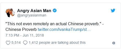 "Twitter post by @angryasianman: ""This not even remotely an actual Chinese proverb."" - Chinese Proverb"