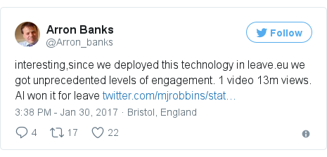 Twitter post by @Arron_banks