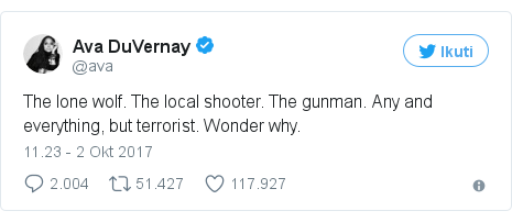 Twitter pesan oleh @ava: The lone wolf. The local shooter. The gunman. Any and everything, but terrorist. Wonder why.