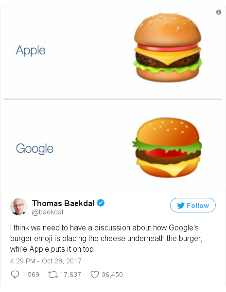 Google 'drops everything' to fix burger emoji