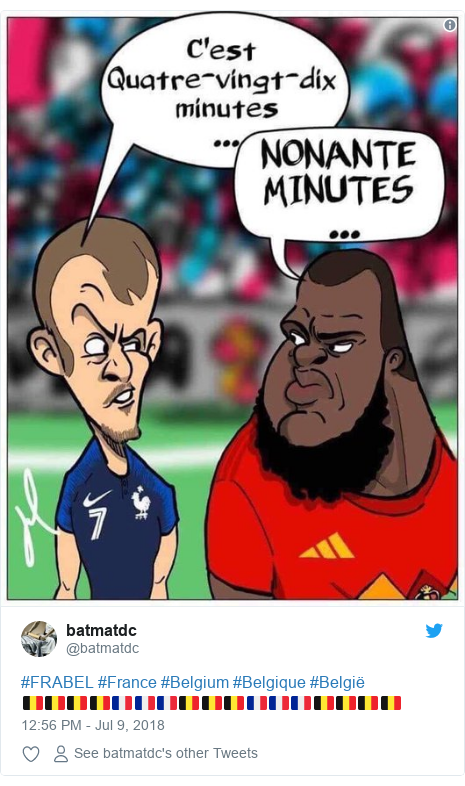 Twitter post by @batmatdc: #FRABEL #France #Belgium #Belgique #België🇧🇪🇧🇪🇧🇪🇧🇪🇫🇷🇫🇷🇫🇷🇧🇪🇧🇪🇧🇪🇫🇷🇫🇷🇫🇷🇧🇪🇧🇪🇧🇪🇧🇪