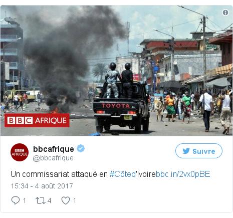 Twitter publication par @bbcafrique