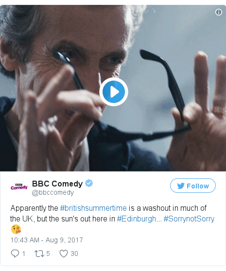 Twitter post by @bbccomedy
