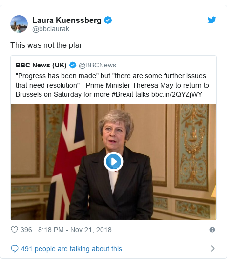 Twitter post by @bbclaurak: This was not the plan