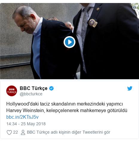 @bbcturkce tarafından yapılan Twitter paylaşımı: Hollywood'daki taciz skandalının merkezindeki yapımcı Harvey Weinstein, kelepçelenerek mahkemeye götürüldü